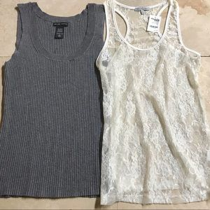 2 TANK BUNDLE S LARGE 1 NY&CO & 1 CHARLOTTE RUSSE